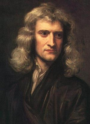 A portrait of Newton.