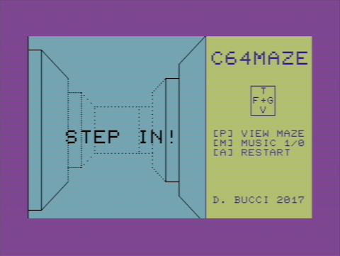Labirinto 3D su Commodore 64